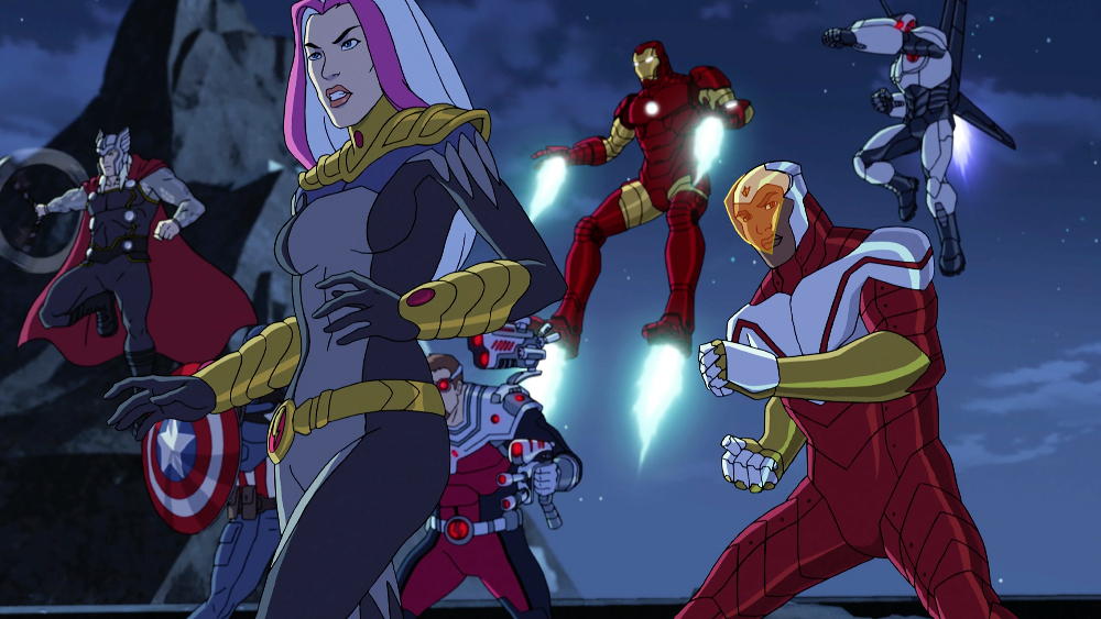 THOR, SONGBIRD, TECHNO, IRON MAN, FALCON, MARK 4