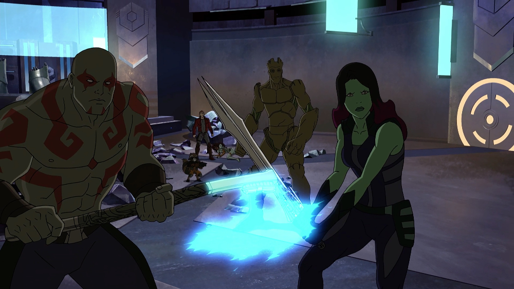 DRAX, ROCKET, STAR LORD, GROOT, GAMORA