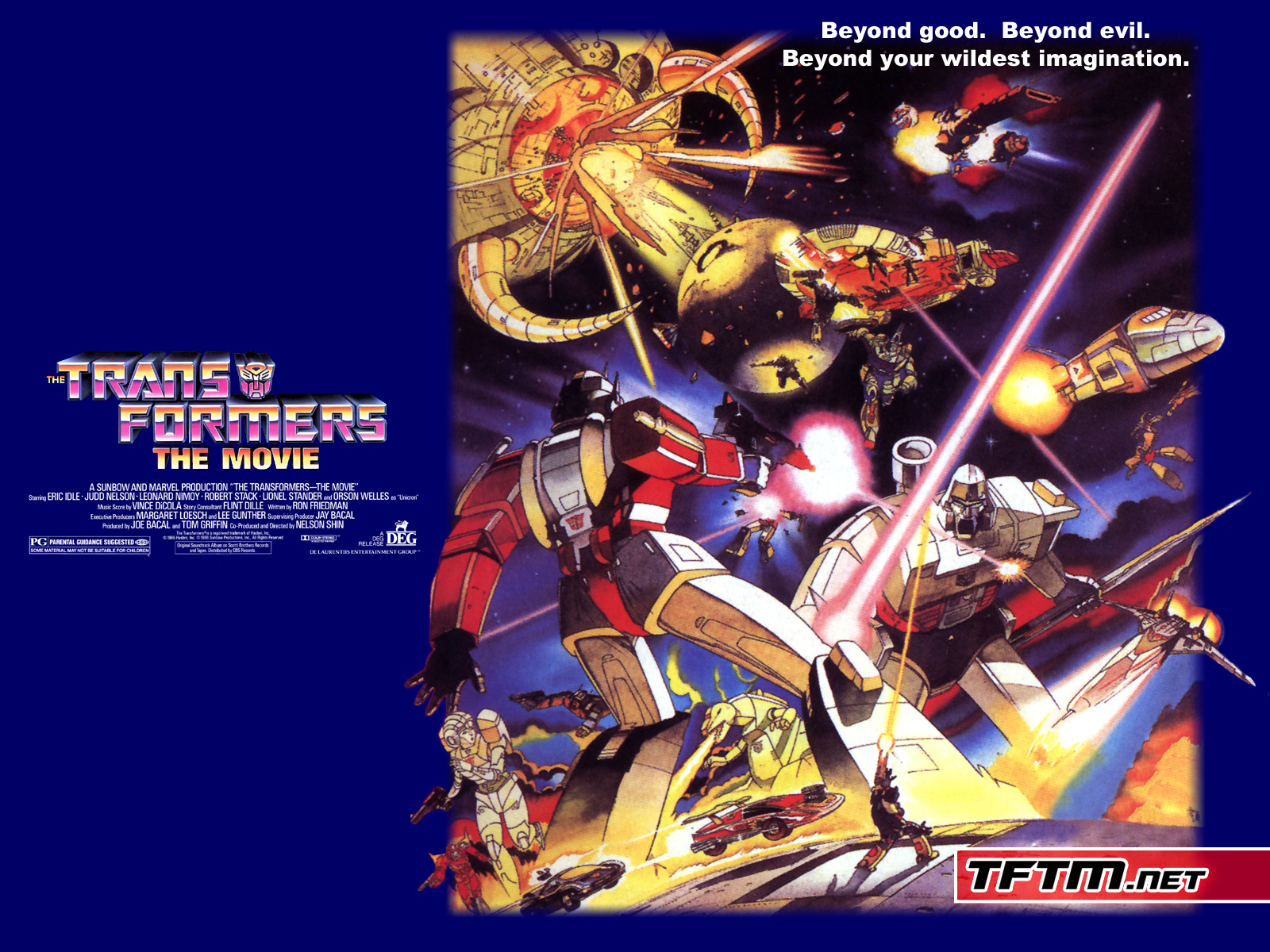 bluray shopping bag � the transformers the movie 1986