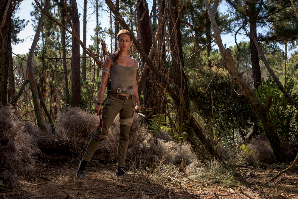 """ALICIA VIKANDER as Lara Croft in Warner Bros. Pictures and Metro-Goldwyn-Mayer Pictures' action adventure """"TOMB RAIDER,"""" opening March 16, 2018. Photo by Graham Bortholomew"""