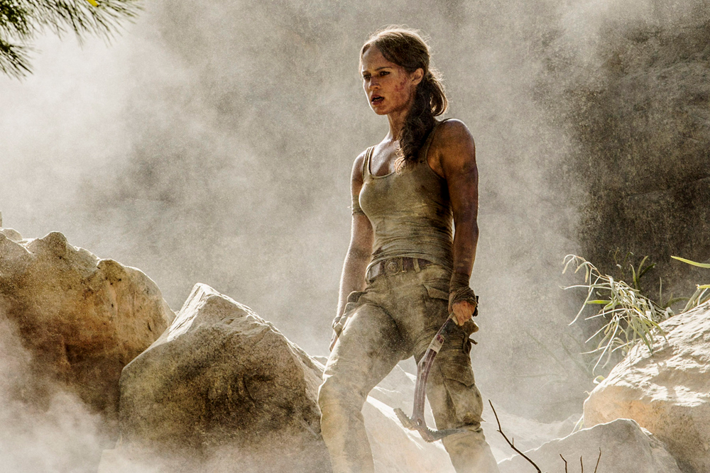"""ALICIA VIKANDER as Lara Croft in Warner Bros. Pictures and Metro-Goldwyn-Mayer Pictures' action adventure """"TOMB RAIDER,"""" opening March 16, 2018. Photo by Ilzek Kitshoff"""